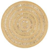 vidaXL pīts paklājs, 150 cm, džuta, roku darbs