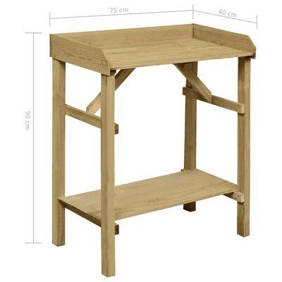 vidaXL dārza galdiņš, impregnēts priedes koks, 75x40x90 cm