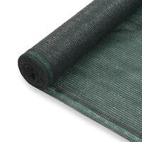 vidaXL tenisa laukuma tīkls, HDPE, 1,6x100 m, zaļš