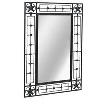 vidaXL dārza spogulis, taisnstūra, 50x80 cm, melns