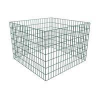 vidaXL komposta kaste, 100x100x70 cm, kvadrāta forma