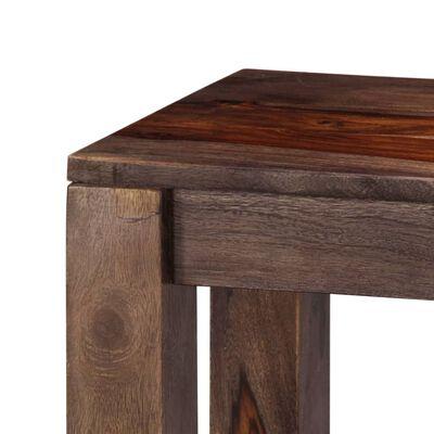 vidaXL konsoles galdiņš, 120x30x76 cm, masīvs rožkoks, pelēks