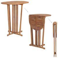vidaXL saliekams bāra galds, 100x65x105 cm, masīvs tīkkoks