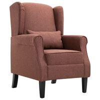 vidaXL atpūtas krēsls, brūns audums