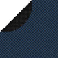 vidaXL baseina pārklājs, solārs, peldošs, 210 cm, melns un zils PE