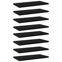 vidaXL plauktu dēļi, 8 gab., melni, 40x20x1,5 cm, skaidu plāksne