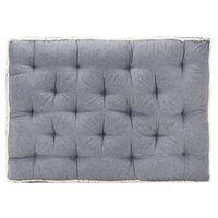 vidaXL palešu dīvāna matracis, 120x80x10 cm, zils