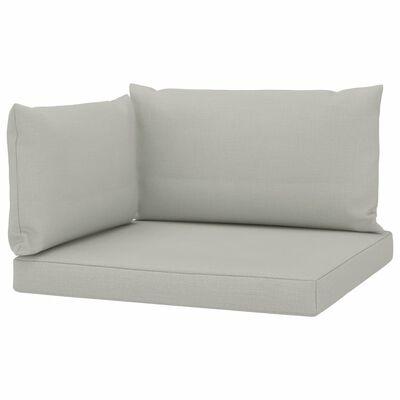vidaXL palešu dīvānu matrači, 3 gab., bēšs audums