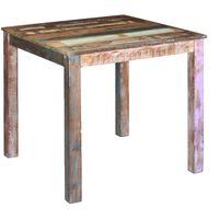 vidaXL virtuves galds, pārstrādāts masīvkoks, 80x82x76 cm