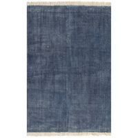 vidaXL paklājs, kokvilna, 160x230 cm, zils