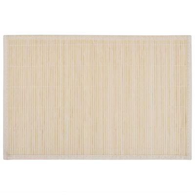 Bambusa galda paliktņi, 6 gab., 30 x 45 cm,  dabīgā krāsā