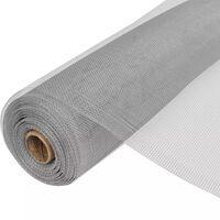 vidaXL siets, alumīnijs, 100x1000 cm, sudraba krāsā