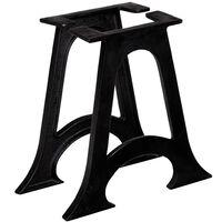 vidaXL kafijas galdiņa kājas, 2 gab., A-forma, čuguns