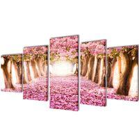 Modulārā Foto Glezna Ķiršu Ziedi 200 x 100 cm