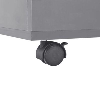 vidaXL kafijas galdiņš, 100x100x35 cm, spīdīgi pelēks