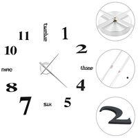 vidaXL 3D sienas pulkstenis, moderns dizains, 100 cm, XXL, melns