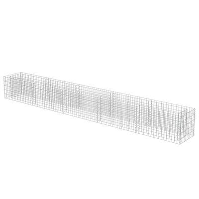 vidaXL gabions, augstā puķu kaste, cinkots tērauds, 450x50x50 cm