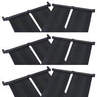 vidaXL saules paneļi baseina sildīšanai, 6 gab., 80x310 cm