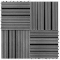 WPC Flīzes Terasēm 30x30cm 11 gab (1m² ) Pelēkas