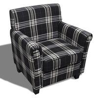 vidaXL atpūtas krēsls ar matraci, melns audums
