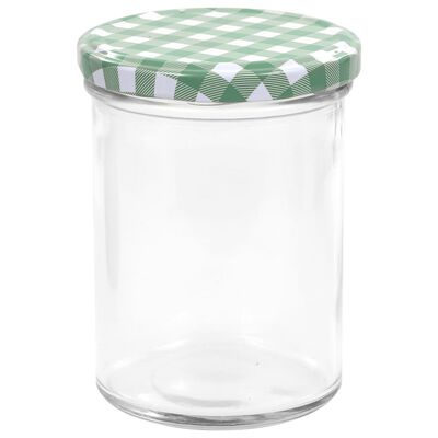 vidaXL ievārījuma burciņas, balti zaļi vāciņi, 48 gab., 400 ml
