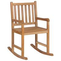 vidaXL šūpuļkrēsls, masīvs tīkkoks