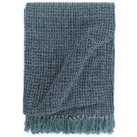 vidaXL pleds, 125x150 cm, tumši zils