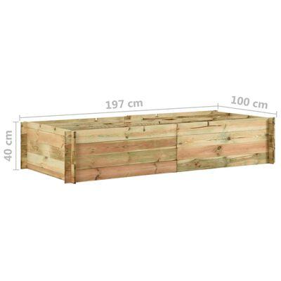 vidaXL dārza stādu kaste, 197x100x40 cm, impregnēts priedes koks