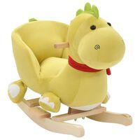 vidaXL rotaļu šūpuļkrēsls ar atzveltni, 60x32x50 cm, pūķis, zaļš