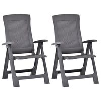 vidaXL atgāžami dārza krēsli, 2 gab., brūna plastmasa