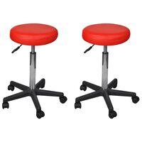 vidaXL biroja krēsli, 2 gab., sarkani, 35,5x98 cm, mākslīgā āda