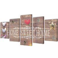 "Modulārā Foto Glezna ""Home Sweet Home"" 200 x 100 cm"