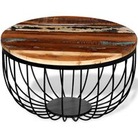 vidaXL kafijas galdiņš no pārstrādāta koka