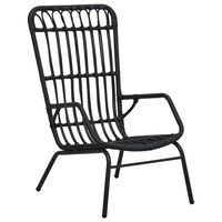 vidaXL dārza krēsls, PE rotangpalma, melns