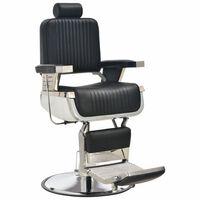 vidaXL frizieru krēsls, 68x69x116 cm, melna mākslīgā āda