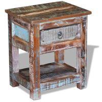 vidaXL galdiņš ar atvilktni, pārstrādāts masīvkoks, 43x33x51 cm