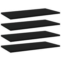 vidaXL plauktu dēļi, 4 gab., melni, 60x30x1,5 cm, skaidu plāksne