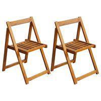 vidaXL saliekami dārza krēsli, 2 gab., akācijas masīvkoks