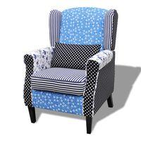 vidaXL atpūtas krēsls ar tekstilmozaīkas apdari