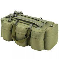 vidaXL soma, armijas stils, 120 L, olīvu zaļa