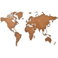 MiMi Innovations koka pasaules kartes sienas dekorācija Luxury, brūna