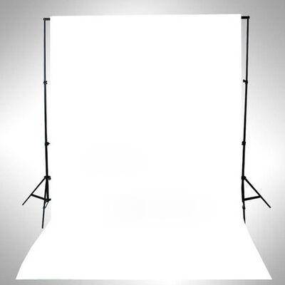 vidaXL fons, 500x300 cm, balta kokvilna