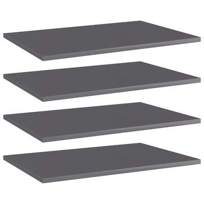 vidaXL plauktu dēļi, 4 gab., pelēki, 60x40x1,5 cm, skaidu plāksne