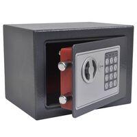 vidaXL elektronisks seifs, digitāls, 23x17x17 cm
