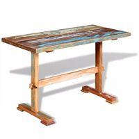 vidaXL virtuves galds, 120x58x78 cm, pārstrādāts masīvkoks