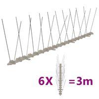 vidaXL putnu atbaidīšanas radzes, 2 rindas, 6 gab., 3 m, plastmasa