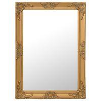 vidaXL baroka stila sienas spogulis, 60x80 cm, zelta krāsā