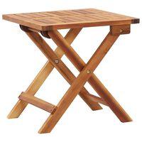 vidaXL saliekams dārza galds, 40x40x40 cm, akācijas masīvkoks