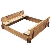 vidaXL smilšu kaste, kvadrāta forma, impregnēts koks