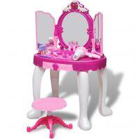 Bērnu spoguļgaldiņš ar skaņu un gaismu un 3 spoguļiem